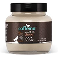 mCaffeine Naked & Rich Choco Body Butter  Cocoa Butter, Caramel   Deep Moisturizing, Reduces Stretch Marks and Heals Dry…