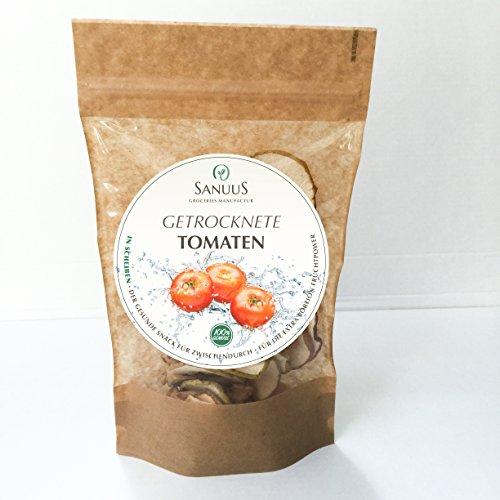 SANUUS 4er Pack getrocknete Tomaten (4x30g) - 100% Gemüse - GLUTENFREI, BIO & VEGAN
