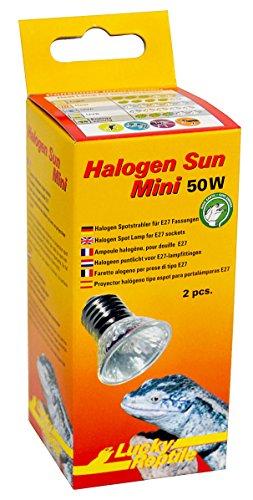 Lucky Reptile HSM-50 Halogen Sun Mini 50 W Doppelpackung, Wärmestrahler für E27 Fassung
