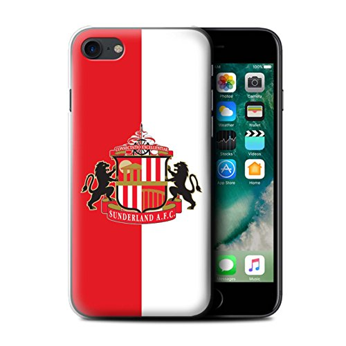 Offiziell Sunderland AFC Hülle / Case für Apple iPhone 7 / Gold Muster / SAFC Fußball Crest Kollektion Rot/Weiß