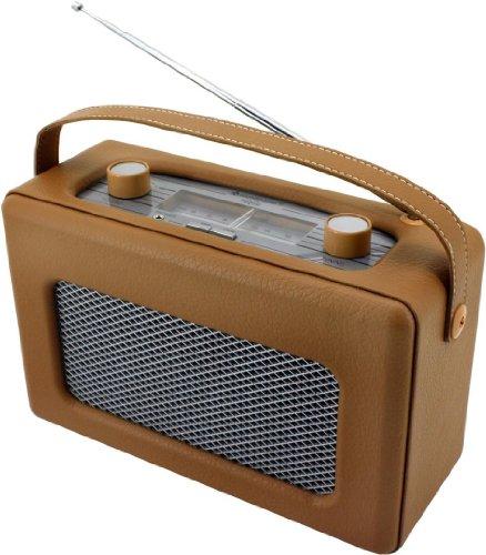 Soundmaster TR-85 Hellbraun Retro Kofferradio UKW/MW, Ledereinband