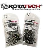 X2(Zwei) echtem rotatech Chainsaw Sägekette passend für Husqvarna 3120X P 76,2cm Bar