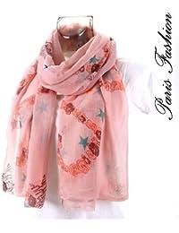 foulard rose étoilé