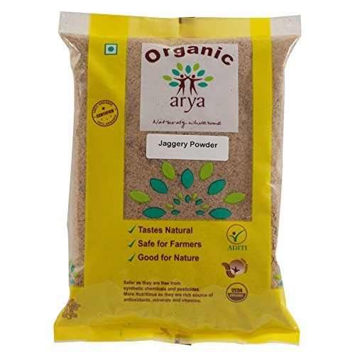 Arya Farm 100% Certified Organic Jaggery (Gud) Powder, 1 Kg (Gur/No Chemicals/No Pesticides/No Artificial Colour)