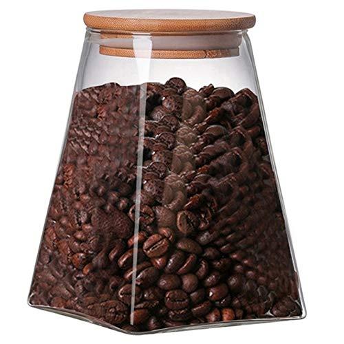 niuniuniu Square Glass Sealed Storage Tank Kaffee Milchpulver Konserven Getreidespeicher Tee Zucker Lebensmittel Vorratsbehälter Schokolade Butterfly Ginger Jar