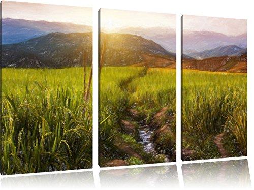 paddy-plantation-en-asie-art-crayon-effect-3-pc-image-toile-limage-120x80-sur-toile-xxl-normes-photo