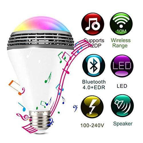 7W LED Glühbirne, Dimmbare E27 Light Bulb, Farbwechsel Lampe RGBW Birne mit Fernbedienung, Dekorative Leuchten für Halloween Weihnachtsdeko Partys Hochzeit Home Decor Party