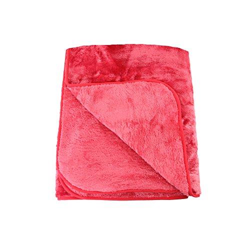 Gözze 40024-37-1317 - Telo arredo/ Copriletto/ Copridivano in microfibra effetto cachemire, 130 x 170 cm, colore: Rosso