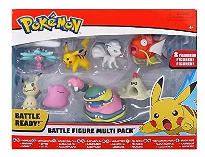Pokèmon Battle 8 Figure Multipack Wave 2, Newest 2019 - Catch 'Em All! de Wicked Cool