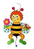 Hess Holzspielzeug 12430 Hampelmann Biene mit Blume aus Holz, Circa 40 x 17 x 3 cm