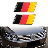 Alamor 2 Unids Aluminio Alemán Alemania Bandera Insignia Parrilla Emblema De Decal Decoración Universal
