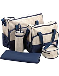 In 5 Colours, 5 Piece Baby Changing Bag 5pcs Baby Nappy Changing Diaper Bag SET