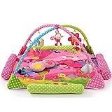 Erlebnisdecke NWYJR Musikalische Aktivität Fitnessraum Aktivität bunten hängenden Spielzeug Crawl-Teppich spielen Gym Baby-Spiel-Matte , pink
