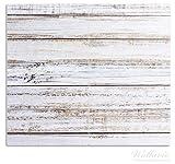 Wallario Herdabdeckplatte / Spritzschutz aus Glas, 2-teilig, 60x52cm, für Ceran- und Induktionsherde, Helle Holzstruktur - Muster - Alter Dielenfußboden