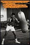 Close Up Muhammad Ali Poster Sandsack (93x62 cm) gerahmt in: Rahmen schwarz