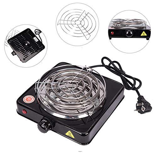 Pre&Mium Elektrischer Kohleanzünder Shisha Kohle Grill 1000 W Heizplatte Brenner E-Heater Kohlebrenner Schwarz (Kohleanzünder) -