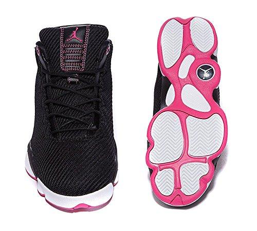 Nike Damen Jordan Horizon Low Gg Basketballschuhe Black (Schwarz / Vivid rosa-weiß)