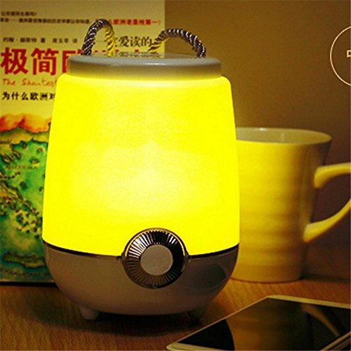 Portable Indoor-outdoor-lautsprecher (DREAM LAMP Weihnachtsgeschenk Bluetooth Lautsprecher Dimmable Portable Bedside Licht mit Timing Einstellungen & Riemen Lesung Schlafzimmer Indoor Outdoor Night Light , yellow)