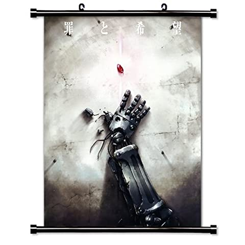 """Full Metal Alchemist Anime Fabric Wall Scroll Poster (16"""" x 22"""") Inches"""