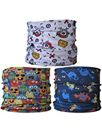 (3 Pack) Multifunctional Headwear. Neck Tubes (Ref A5) Childrens, Child Size.