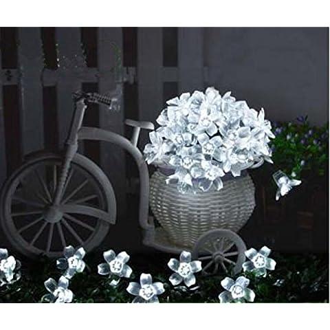 Y&M Solare luce/led casa luce catena/esterni impermeabile giardino, luci decorative luci/ghirlande/prato/giardino decorazione , peach - white 7