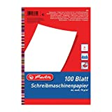 Herlitz 386409 Schreibmaschinenpapier A4, 100 Blatt
