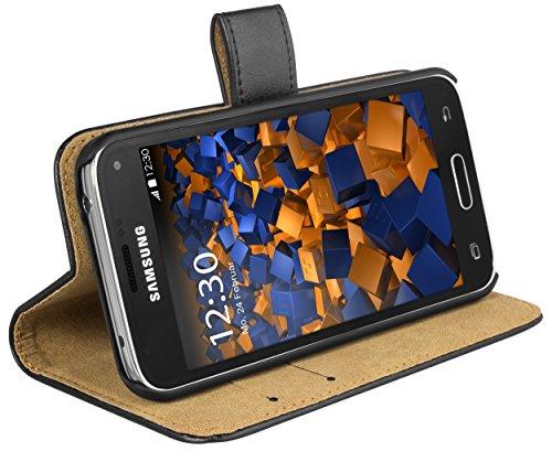 mumbi Ledertasche im Bookstyle für Samsung Galaxy S5 Mini Tasche (S5-kreditkarten-etui Leder)