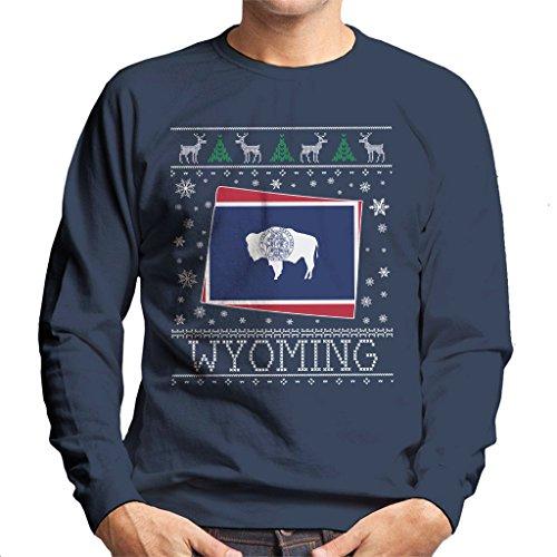 Coto7 Wyoming Christmas Knit Pattern Men's Sweatshirt -