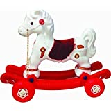 JBRD TOYS kids 2 in 1 Baby Horse Rider (White and Red)