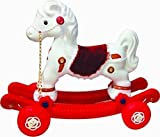 #8: MANAN 2 in 1 Baby Horse Rider Cum Rocker for Kids (White & Red)