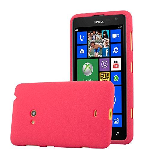 Cadorabo Custodia per Nokia Lumia 625 in Frost Rosso - Morbida Cover Protettiva Sottile di Silicone TPU con Bordo Protezione - Ultra Slim Case Antiurto Gel Back Bumper Guscio