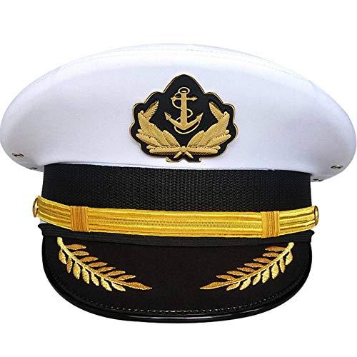 Kostüm Tourist Hut - JJJRMP Hut Amerikanischer Offizier Visier Hüte MännerMilitär Halloween Edle Us Navy Army Cap