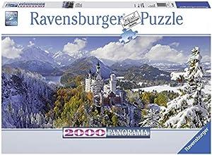 Ravensburger - Castillo de Neuschwanstein Panorama, Puzzle de 2000 Piezas (16691 6)