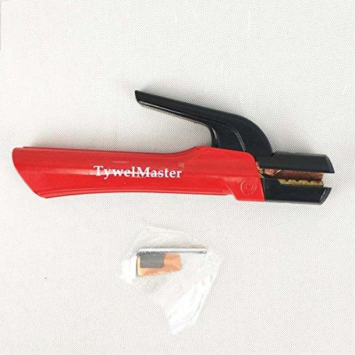 Schweißelektrode Halter, 300A/500A/800A, STOSSSICHER gerillt Kiefer Heavy Duty Elektrode-Klemme der Schweißanlage leadset - Professional 500A Red (Clamp-angelrute-halter)