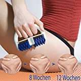 Lunata -Upgrade 2019- Anti Cellulite Massage Roller gegen Orangenhaut, Massagerolle für die Hautstraffung, Massagebürste, Massagegerät, Massagehandschuh