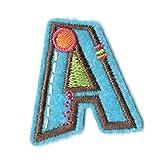 VEVISTARS Patches zum Aufbügeln Flicken Sticker DIY Kleidung Patches Aufkleber Buchstaben Aufnäher Bunt Buchstabe Alphabet für Hat T-Shirt Jeans Taschen (A)