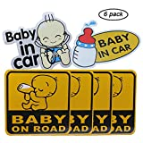 GCOA 6pcs Baby on Board
