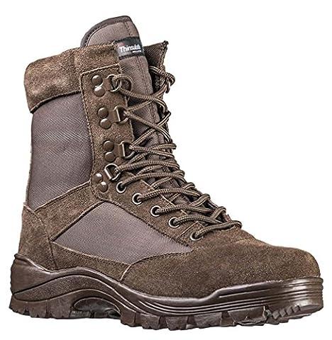 Tactical Boots m. YKK Zipper braun Gr.8/ EU41