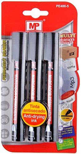 mp-pe486-5-marcadores-permanentes-negro-2-3-mm-pack-de-3