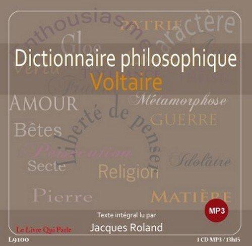 Dictionnaire Philosophique 1 CD MP3
