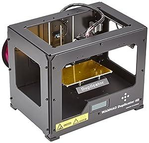 Wanhao 4S Duplicator 3D Printer, Case Dual Extruder, Metal Frame, Black