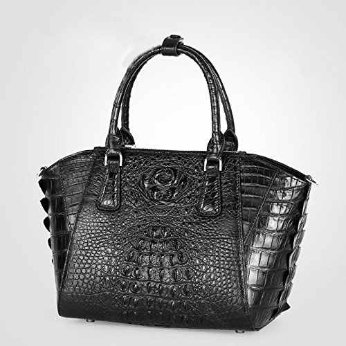 lpkone-Sac à main motif crocodile grand rétro en Europe et en Amérique avec le sac violet-noir Black