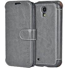 Custodia Galaxy S4 - Cover Galaxy S4 - Mulbess Custodia In Pelle Con Flip Cover Per Samsung Galaxy S4 Custodia Pelle Grigio