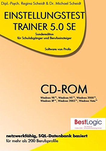 Einstellungstest-Trainer 5.0 SE. Für Windows 98/NT/XP/2000/2003/Vista