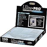 Ultra Pro - Platinum Hologram Pages - Feuilles de classeur - 100 feuilles de 9 cases (11 Trous)