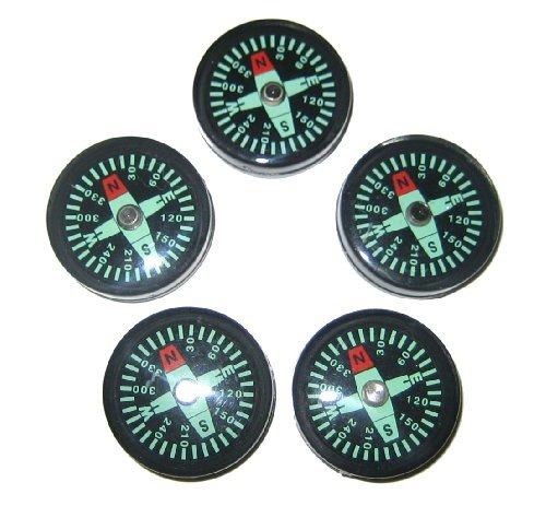 Preisvergleich Produktbild 25 mm Liquid Filled Survival Button Compasses - Set of 5 by Private Label