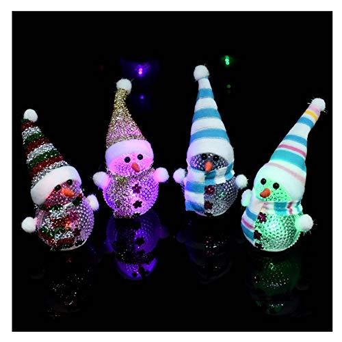 SPFAZJ Weihnachten Dekoration Ornamente Hut Glitzer Weihnachten Schneemann Teilchen Licht Leuchtend Bunte Kleine Nacht Lichter Weihnachten Geschenke (Topper Hut Baum)