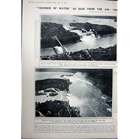 Impresión Antigua de la Herradura 1923 de la Cabra del Puente del Metal de América Niagara Falls