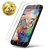UTECTION 2X Verre Trempé Compatible avec Samsung Galaxy A3 - Protecteur d'écran 9H - Résistant aux Rayures - Installation sans Bulles - Couverture complète - Protection Clair