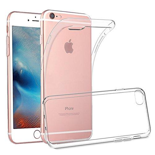 iPhone 6 6S Schutzhülle, Silikon- Crystal Clear, Ultra Dünn